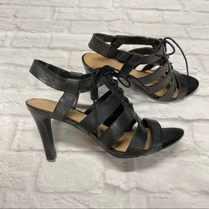 Franco Sarto Women's Black high heel sandals US 8